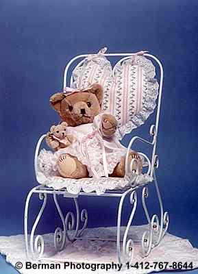 Momma Teddy Bear with baby in the rocking chair